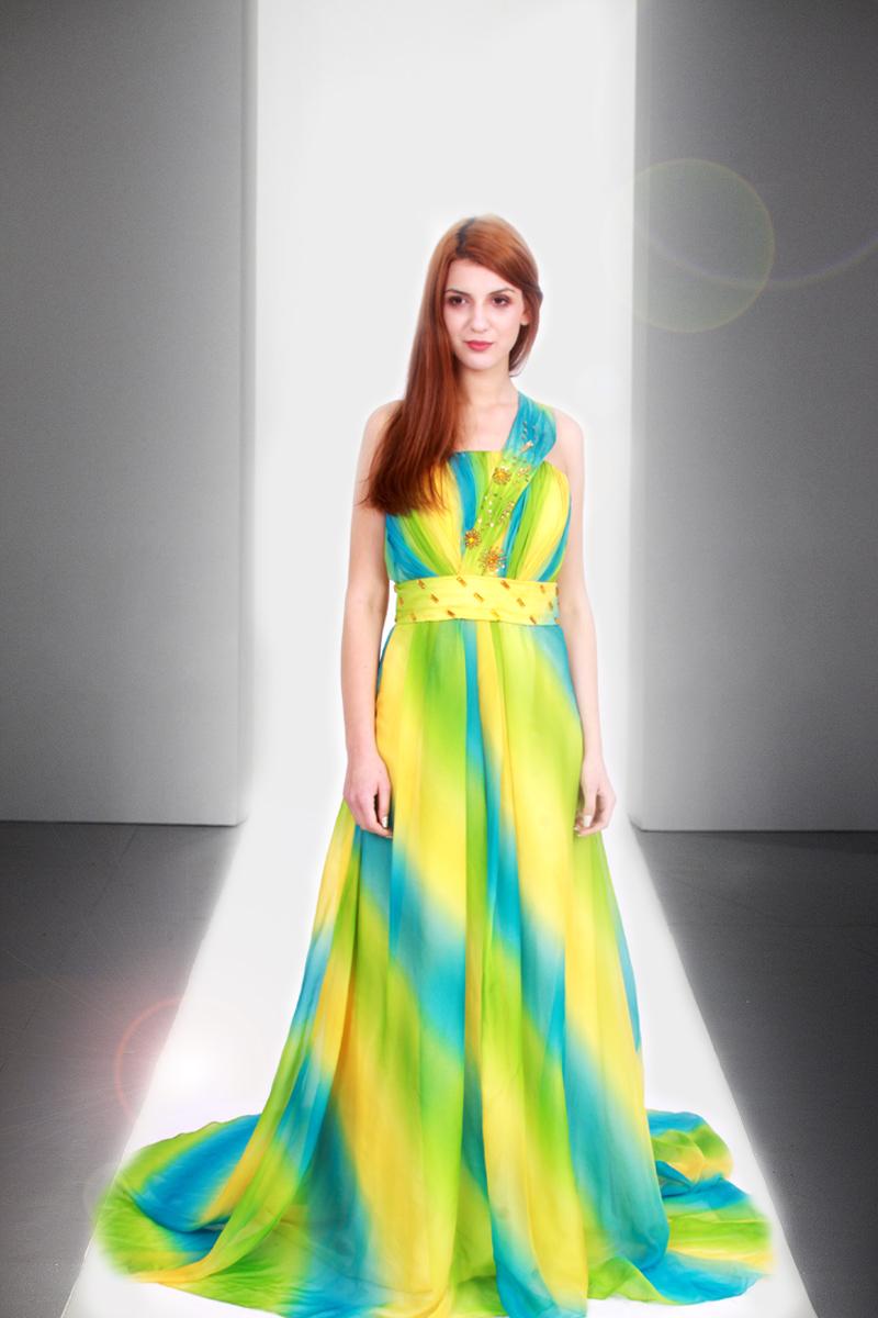 rochie de seara in degrade